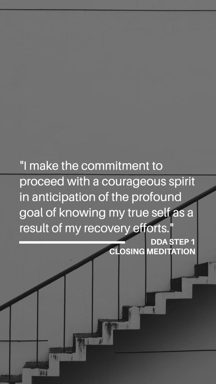 Dual Diagnosis Anonymous - Step 1 - Closing Meditation (Part Three)